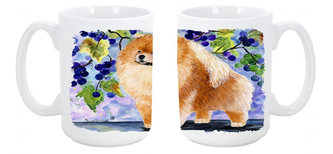 Buy this Pomeranian Dishwasher Safe Microwavable Ceramic Coffee Mug 15 ounce SS8251CM15