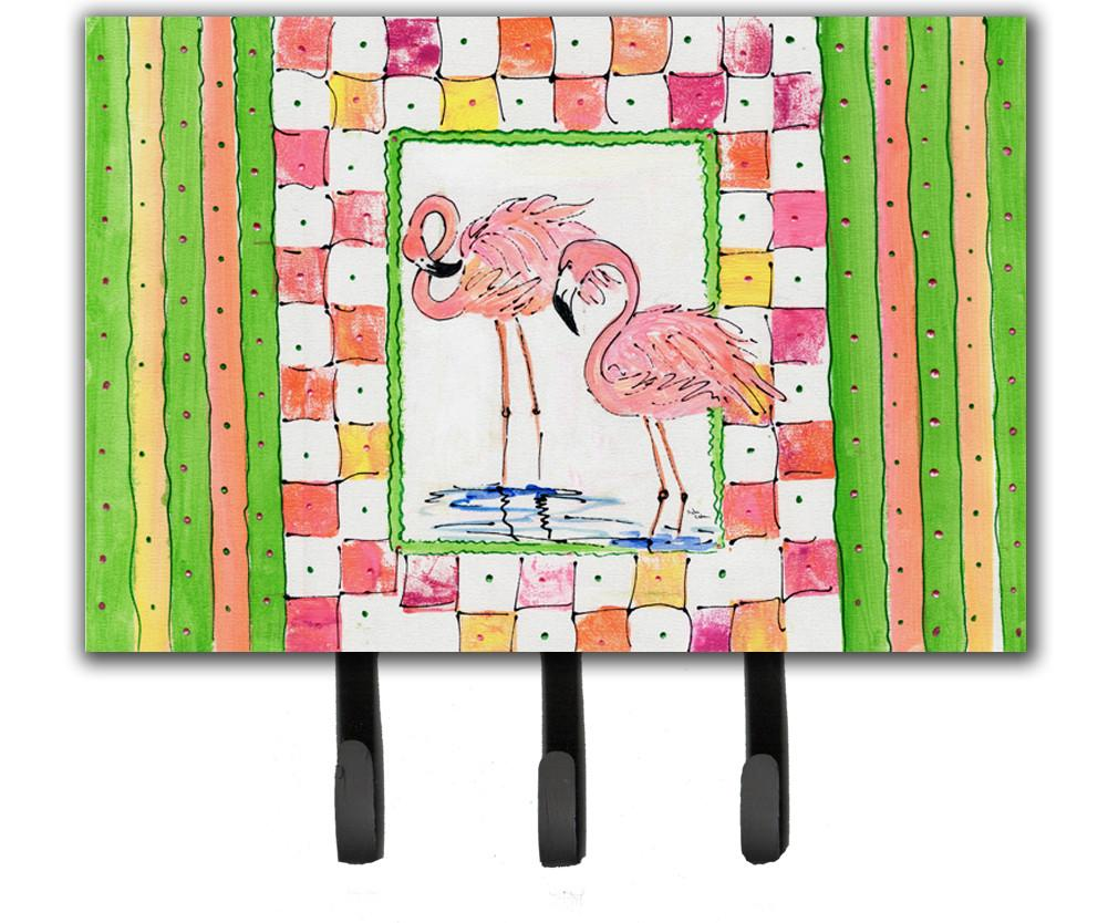 Bird - Flamingo Leash Holder or Key Hook by Caroline's Treasures