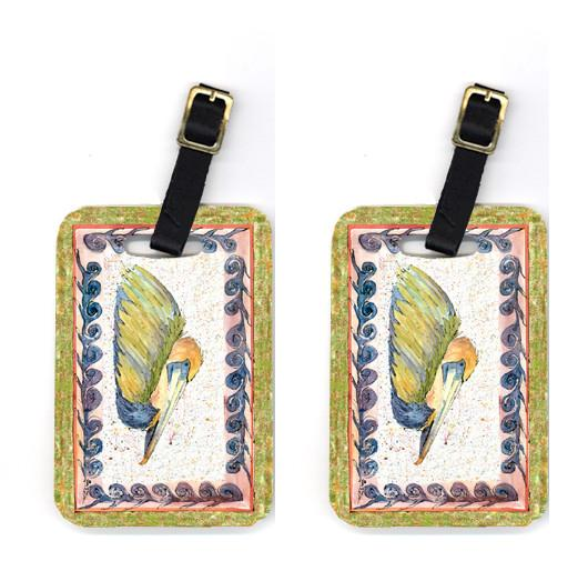 Pair of Bird - Pelican Luggage Tags by Caroline's Treasures