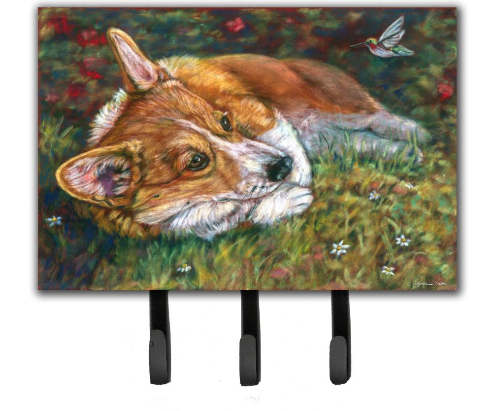 Buy this Corgi Pastel Hummingbird Leash or Key Holder 7326TH68