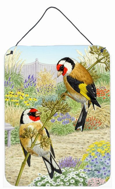 European Goldfinches Wall or Door Hanging Prints ASA2103DS1216 by Caroline's Treasures
