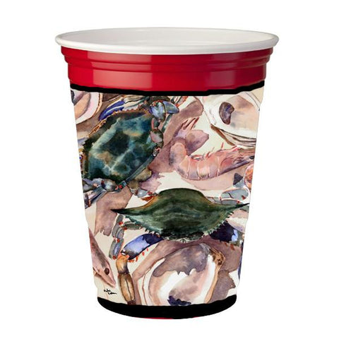 Buy this Crab , shrimp and oysters Red Solo Cup Beverage Insulator Hugger