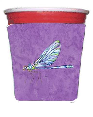 Buy this Dragonfly on Purple Red Solo Cup Beverage Insulator Hugger