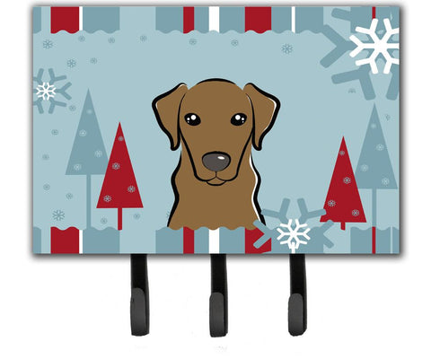 Buy this Winter Holiday Chocolate Labrador Leash or Key Holder BB1730TH68