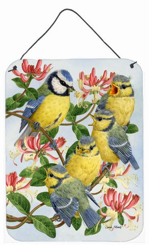 Buy this Eurasian Blue Tits at feeding time Wall or Door Hanging Prints ASA2081DS1216