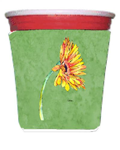 Buy this Gerber Daisy Orange Red Solo Cup Beverage Insulator Hugger