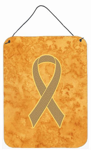 Buy this Peach Ribbon for Uterine Cancer Awareness Wall or Door Hanging Prints AN1219DS1216