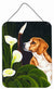 Buy this Beagle Lillies Wall or Door Hanging Prints AMB1077DS1216