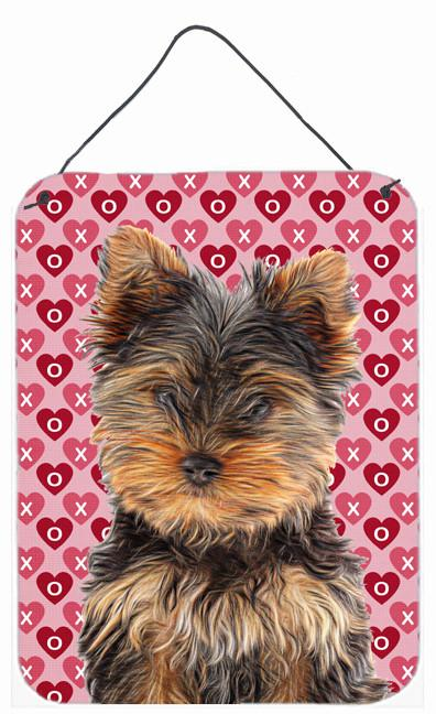 Hearts Love and Valentine's Day Yorkie Puppy / Yorkshire Terrier Wall or Door Hanging Prints KJ1195DS1216 by Caroline's Treasures
