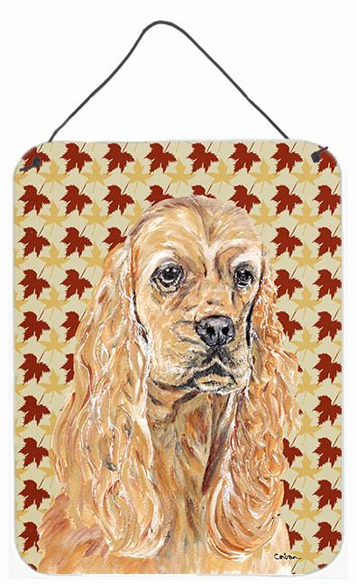Buy this Cocker Spaniel Fall Leaves Aluminium Metal Wall or Door Hanging Prints