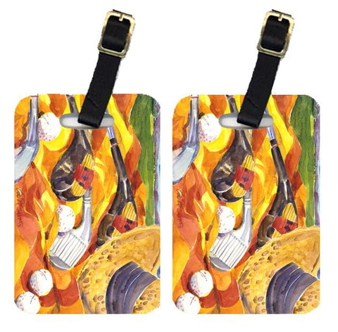 Buy this Pair of 2 Golf Clubs Golfer Luggage Tags