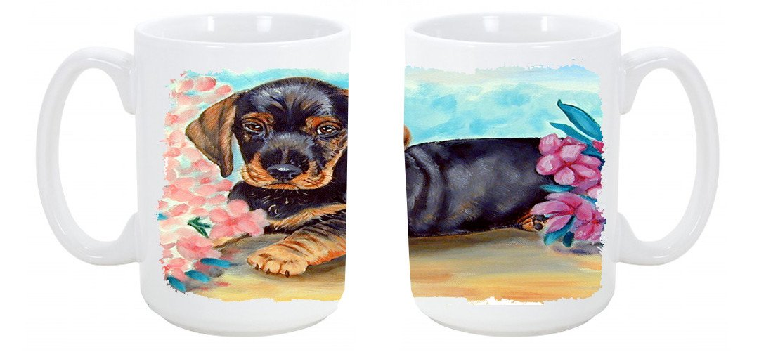 Dachshund Dishwasher Safe Microwavable Ceramic Coffee Mug 15 ounce 7501CM15 by Caroline's Treasures