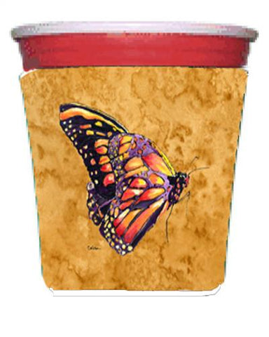 Buy this Butterfly on Gold Red Solo Cup Beverage Insulator Hugger