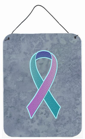 Buy this Teal, Pink and Blue Ribbon for Thyroid Cancer Awareness Wall or Door Hanging Prints AN1217DS1216