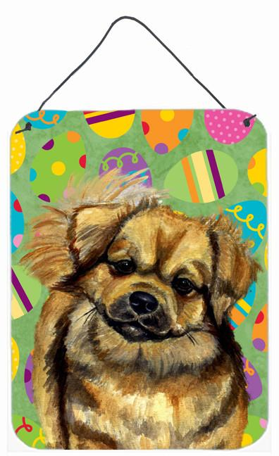 Tibetan Spaniel Easter Eggtravaganza Wall or Door Hanging Prints by Caroline's Treasures