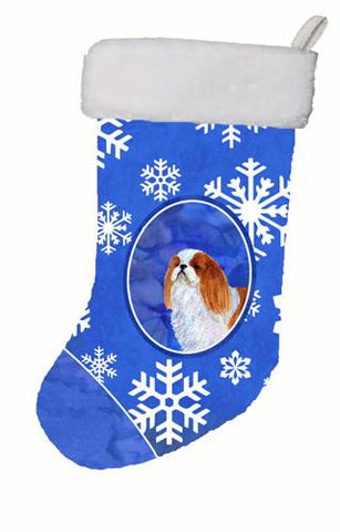 Buy this English Toy Spaniel Winter Snowflakes Christmas Stocking SS4645