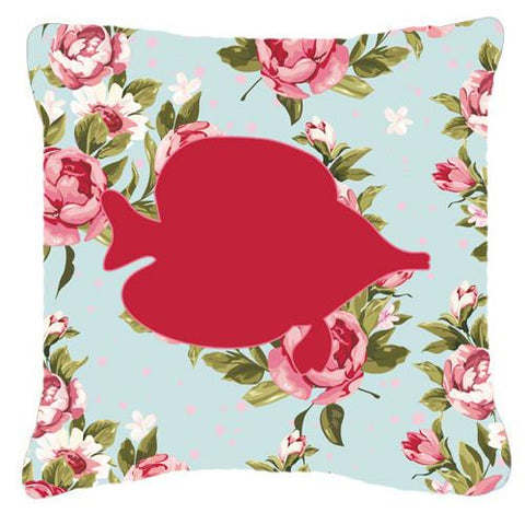Buy this Fish - Tang Fish Shabby Chic Blue Roses   Canvas Fabric Decorative Pillow