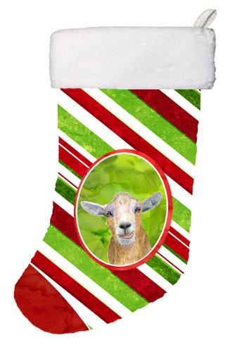Buy this Goat Candy Cane Holiday Christmas Christmas Stocking RDR3024-CS
