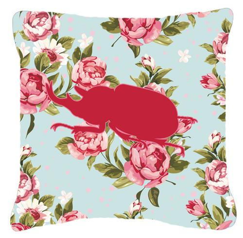 Buy this Beetle Shabby Chic Blue Roses   Canvas Fabric Decorative Pillow BB1064