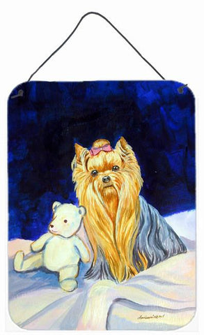 Buy this Yorkie and Teddy Bear Aluminium Metal Wall or Door Hanging Prints