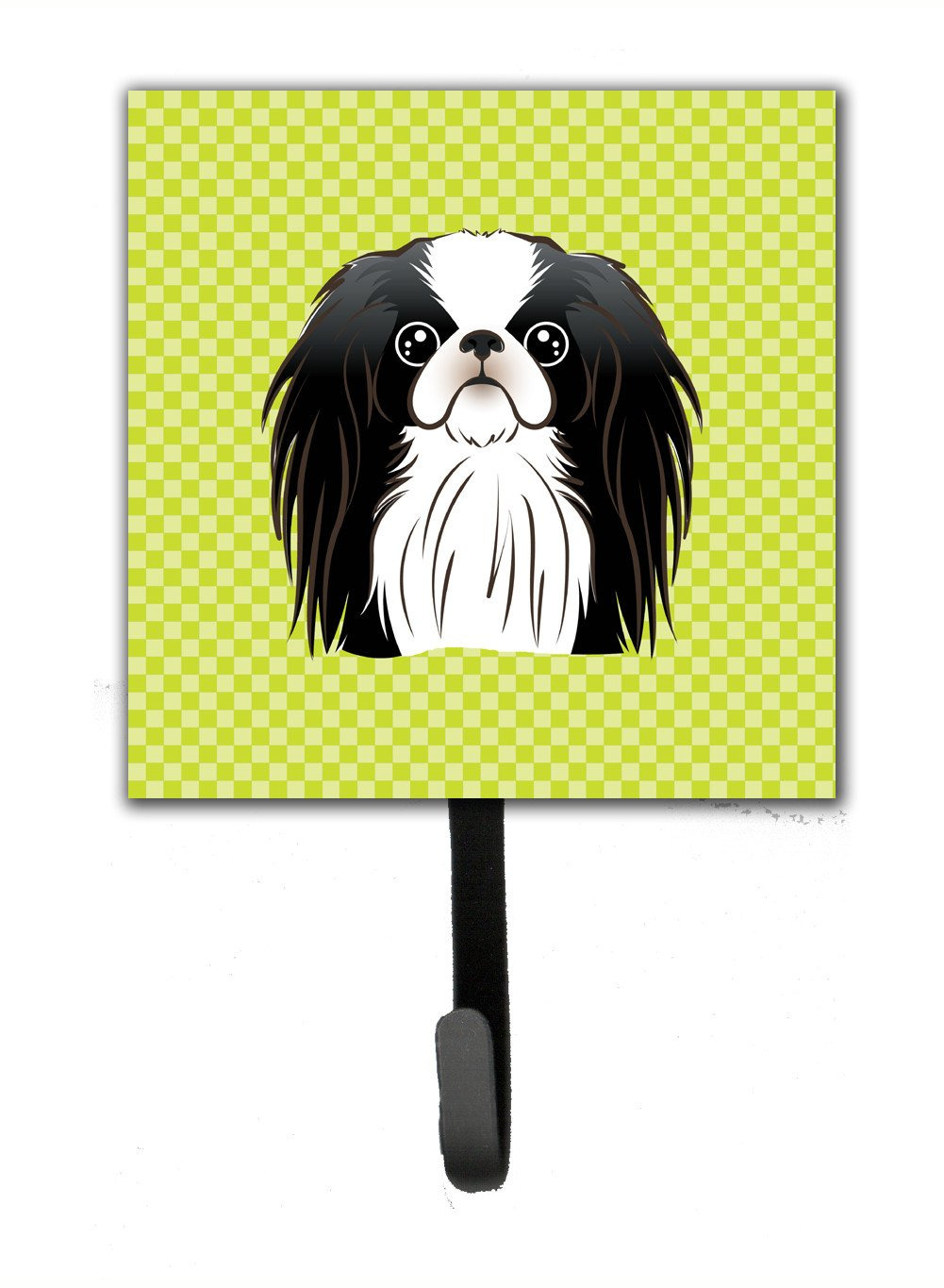 Checkerboard Lime Green Japanese Chin Leash or Key Holder BB1292SH4 by Caroline's Treasures