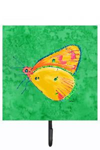 Buy this Butterfly Orange on Green Leash or Key Holder