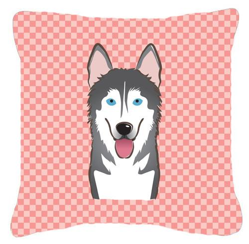 Checkerboard Pink Alaskan Malamute Canvas Fabric Decorative Pillow BB1218PW1414 by Caroline's Treasures