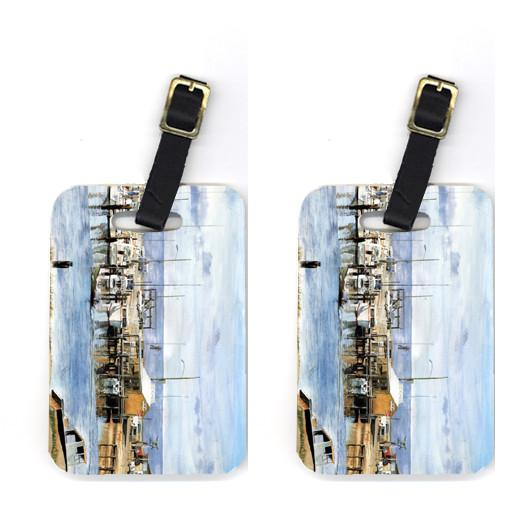 Pair of The Pass Bait Shop Luggage Tags by Caroline's Treasures