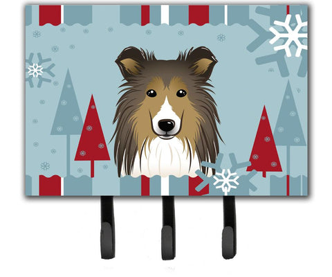 Buy this Winter Holiday Sheltie Leash or Key Holder BB1738TH68