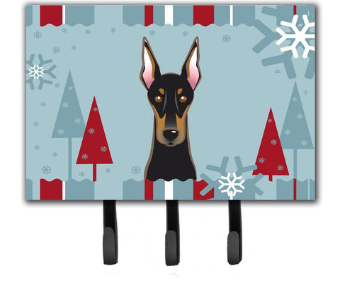Buy this Winter Holiday Doberman Leash or Key Holder BB1741TH68