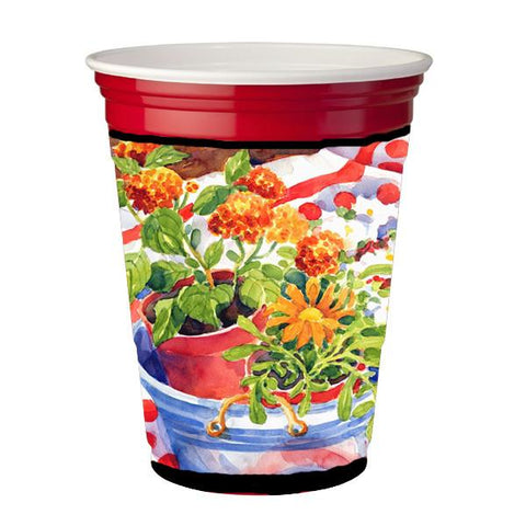 Buy this Flowers with a side of lemons Red Solo Cup Beverage Insulator Hugger