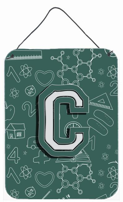 Letter C Back to School Initial Wall or Door Hanging Prints CJ2010-CDS1216 by Caroline's Treasures