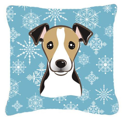 Buy this Snowflake Jack Russell Terrier Fabric Decorative Pillow BB1695PW1414