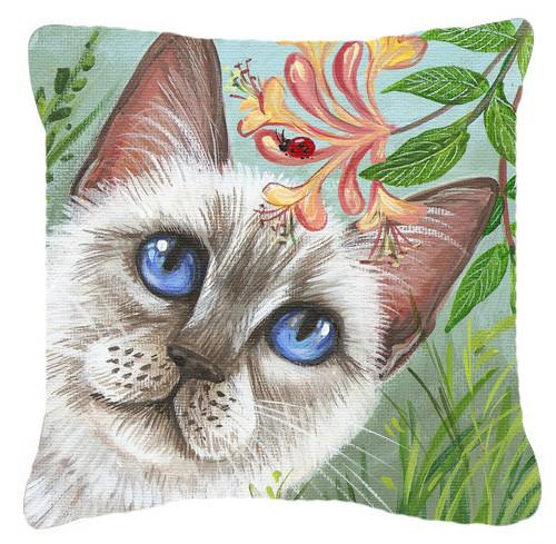 Buy this White Cat Saphire Eyes Canvas Decorative Pillow JYJ0173PW1414