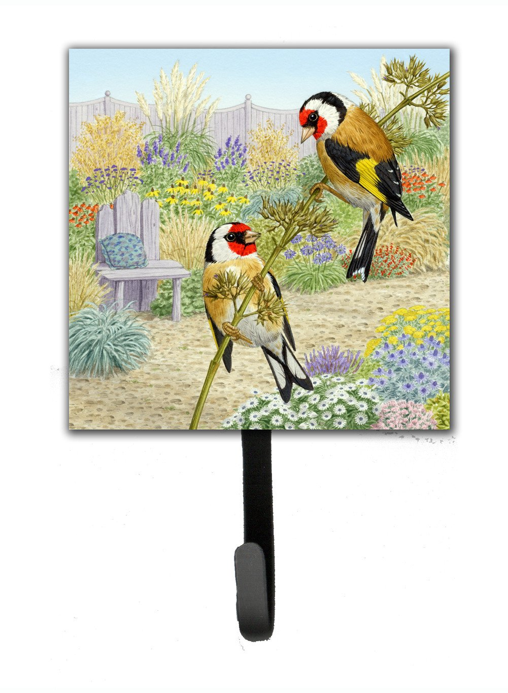 European Goldfinches by Sarah Adams Leash or Key Holder ASAD0691SH4 by Caroline's Treasures