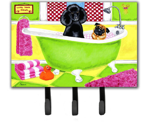 Buy this Tub for Two with Poodle and Pug Leash or Key Holder AMB1335TH68