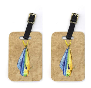 Buy this Pair of Dolphin Mahi Mahi Luggage Tags