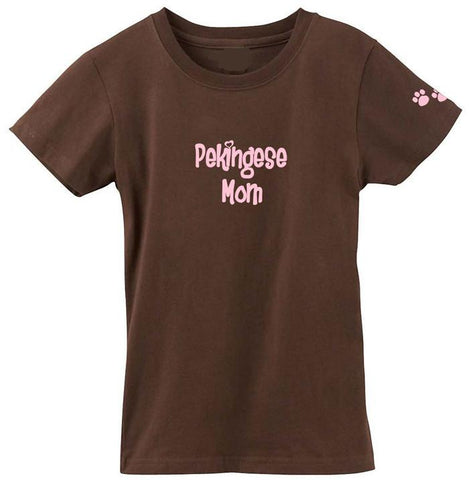 Buy this Pekingese Mom Tshirt Ladies Cut Short Sleeve Adult Medium