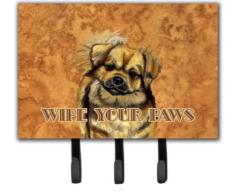 Buy this Tibetan Spaniel Wipe your Paws Leash or Key Holder
