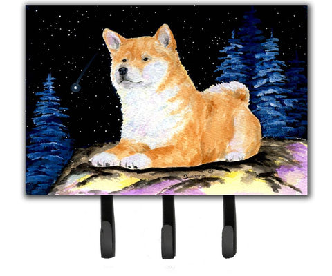 Buy this Starry Night Shiba Inu Leash Holder or Key Hook