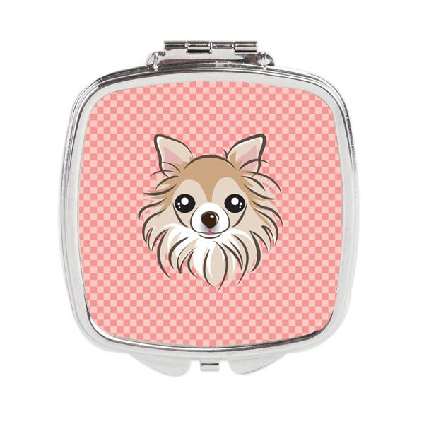 Checkerboard Pink Chihuahua Compact Mirror BB1251SCM by Caroline's Treasures