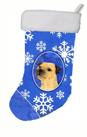 Buy this Border Terrier Winter Snowflakes Snowflakes Holiday Christmas Stocking