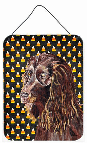 Buy this Boykin Spaniel Halloween Candy Corn Aluminium Metal Wall or Door Hanging Prints