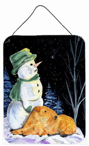 Buy this Snowman with Lakeland Terrier Aluminium Metal Wall or Door Hanging Prints
