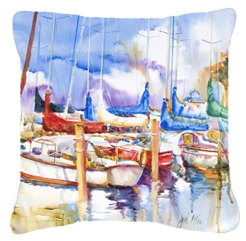 Runaway Sailboats Canvas Fabric Decorative Pillow JMK1233PW1414 by Caroline's Treasures