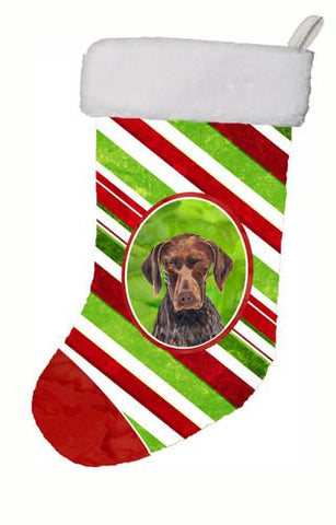Buy this German Shorthaired Pointer Candy Cane Holiday   Christmas Stocking