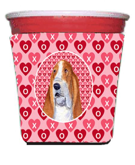 Basset Hound  Red Solo Cup Beverage Insulator Hugger by Caroline's Treasures