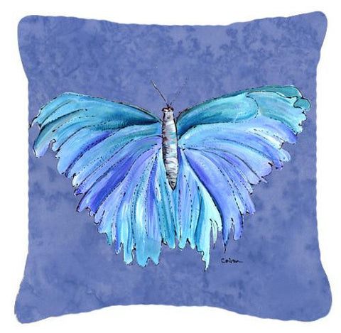 Buy this Butterfly on Slate Blue   Canvas Fabric Decorative Pillow