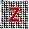 Monogram - Initial Z Houndstooth Decorative   Canvas Fabric Pillow CJ1021 by Caroline's Treasures