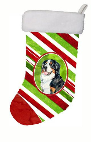 Buy this Bernese Mountain Dog Candy Cane Holiday Christmas Christmas Stocking LH9244